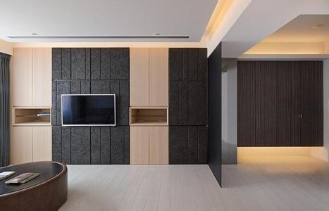 好看的实木电视背景墙效果图