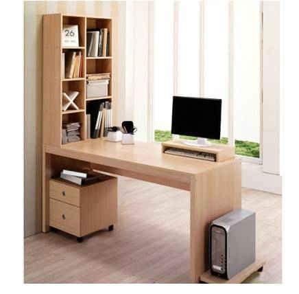 选择更加实用的带书柜的电脑桌