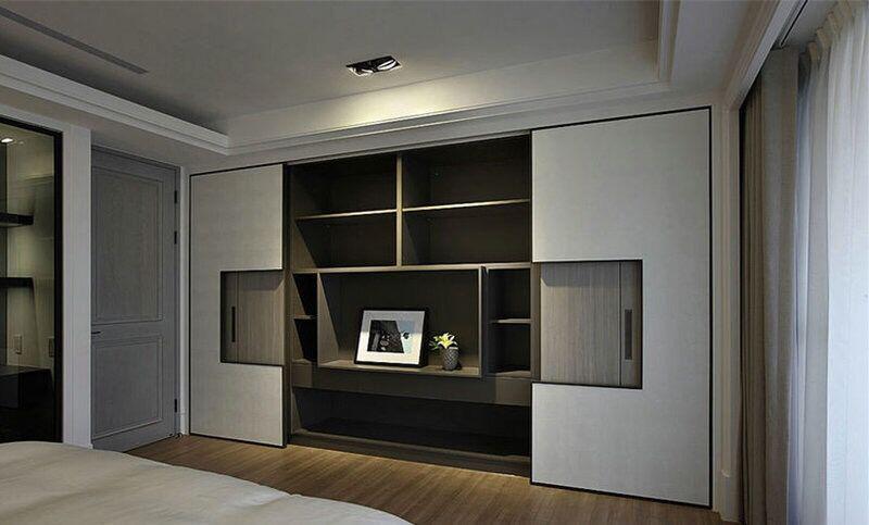 不同风格的主卧室衣柜设计效果图