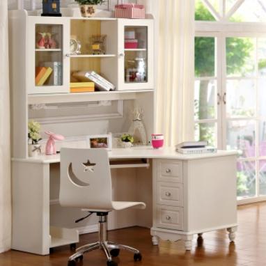 儿童书桌书柜组合效果图