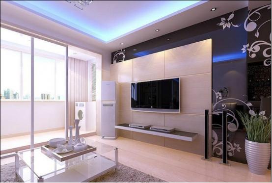 超高现代电视背景墙