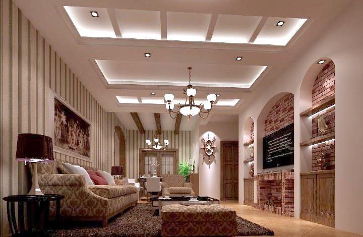 不同风格新房装修吊顶效果图