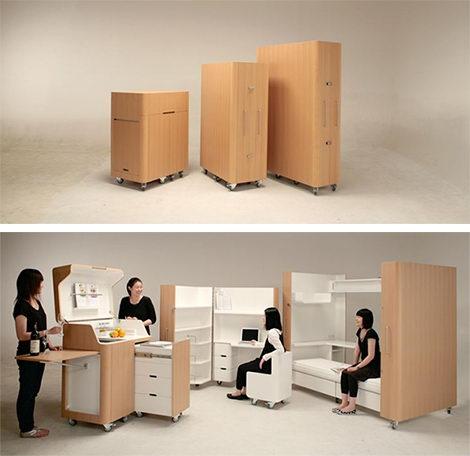 日本创意家具设计让狭小空间瞬间宽敞