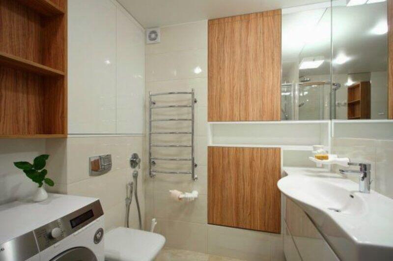 干净大方的小洗手间装修效果图