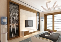 艺术玻璃电视背景墙的三个优点