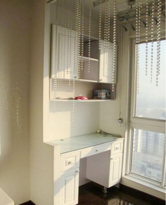 阳台电脑桌书柜一体,解放家居空间