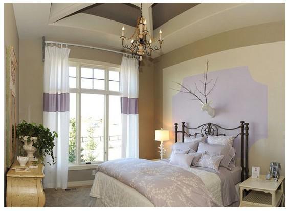 绚丽多彩的卧室窗户装修效果图