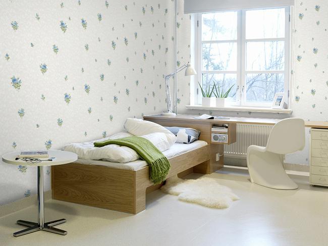 风格迥异的卧室壁纸效果图