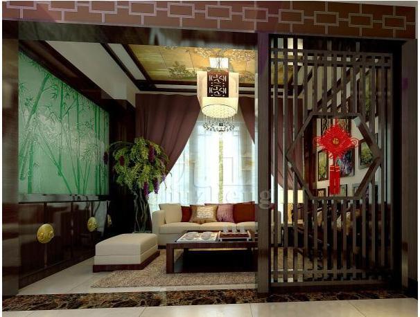 中式客厅隔断屏风的三种款式
