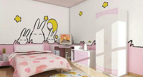 儿童房手绘墙效果图分享