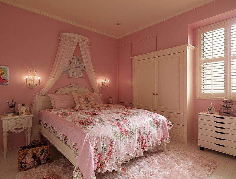 豪华粉色卧室的装修特点