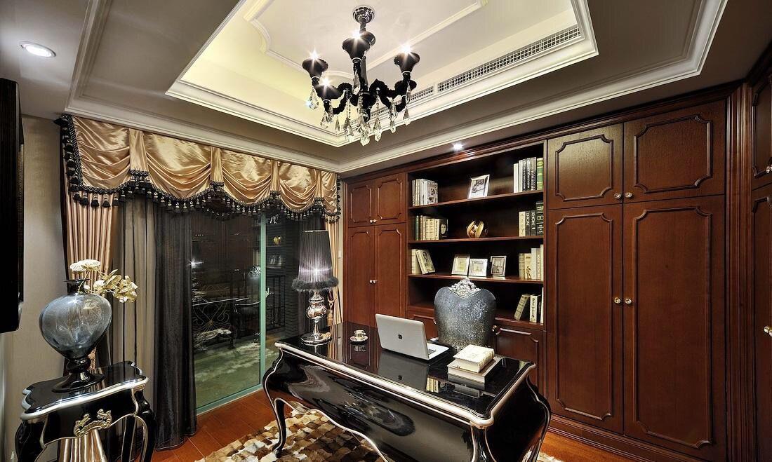 欧式书房装修有哪些好看的效果图