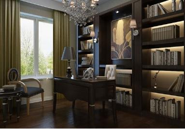书房装修效果图大全2014图片让书房装修不再单调