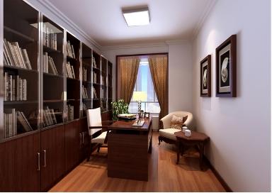 书房装修效果图2015让书房装修更具品味