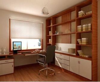 实用且个性的小书房装修效果图