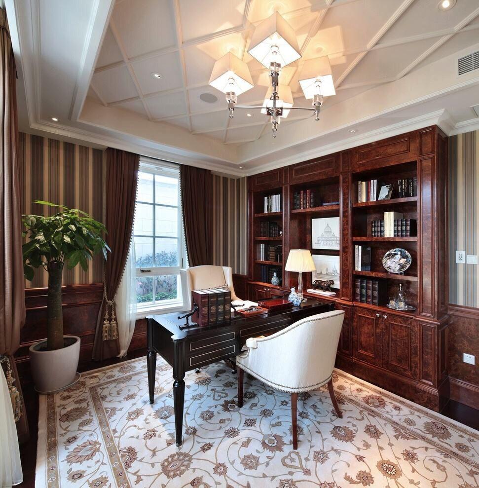 不同风格的书房设计效果图
