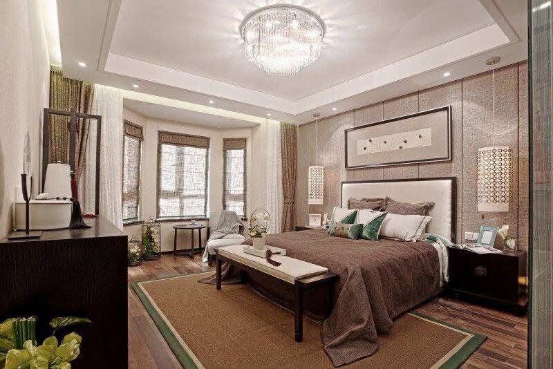 不同风格的别墅卧室装修图片