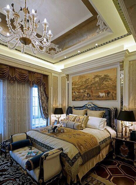 有哪些好看的别墅卧室效果图