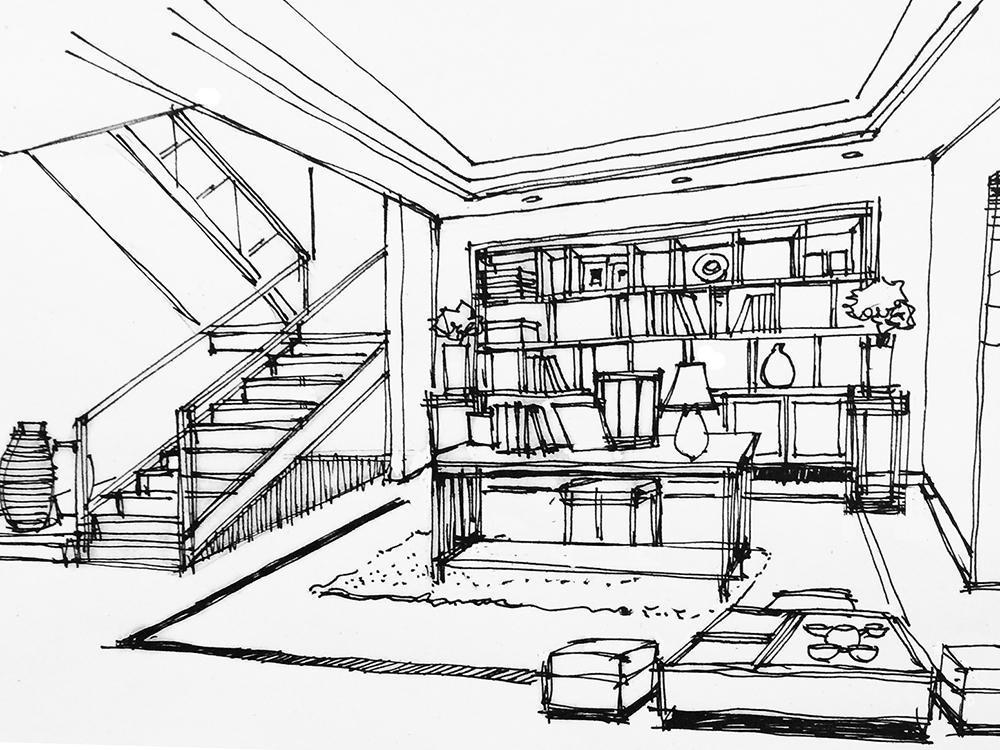 怎样根据欧式书房手绘效果图装修