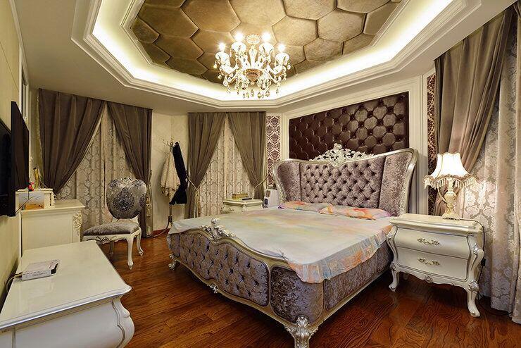 不同风格的别墅卧室装修效果图
