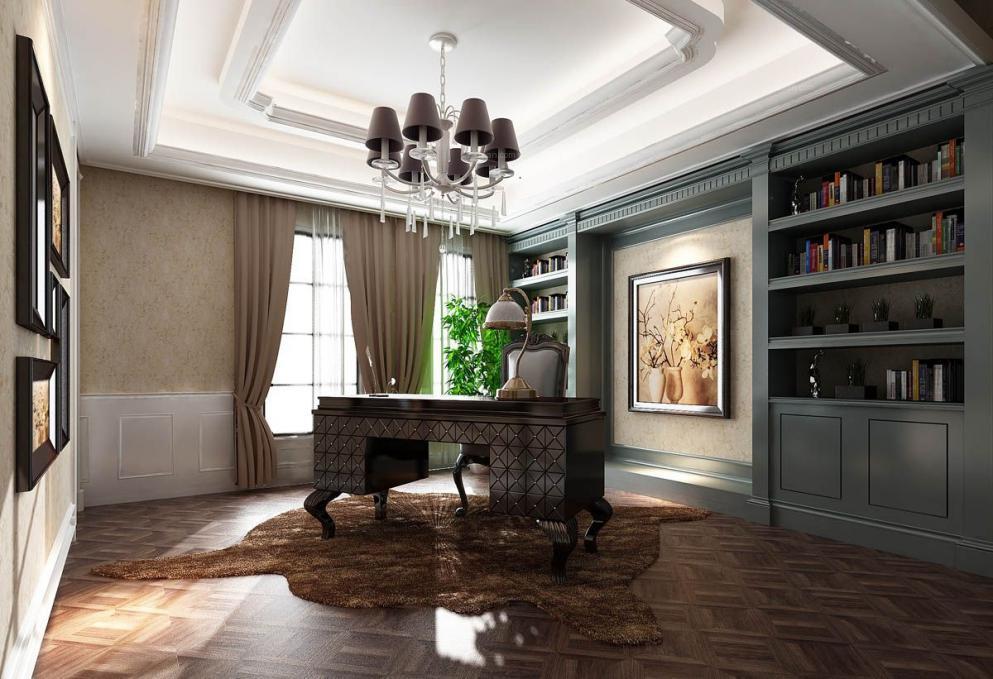 怎样装修出一个欧式别墅书房