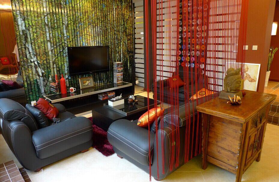 不同风格的客厅隔断装修效果图