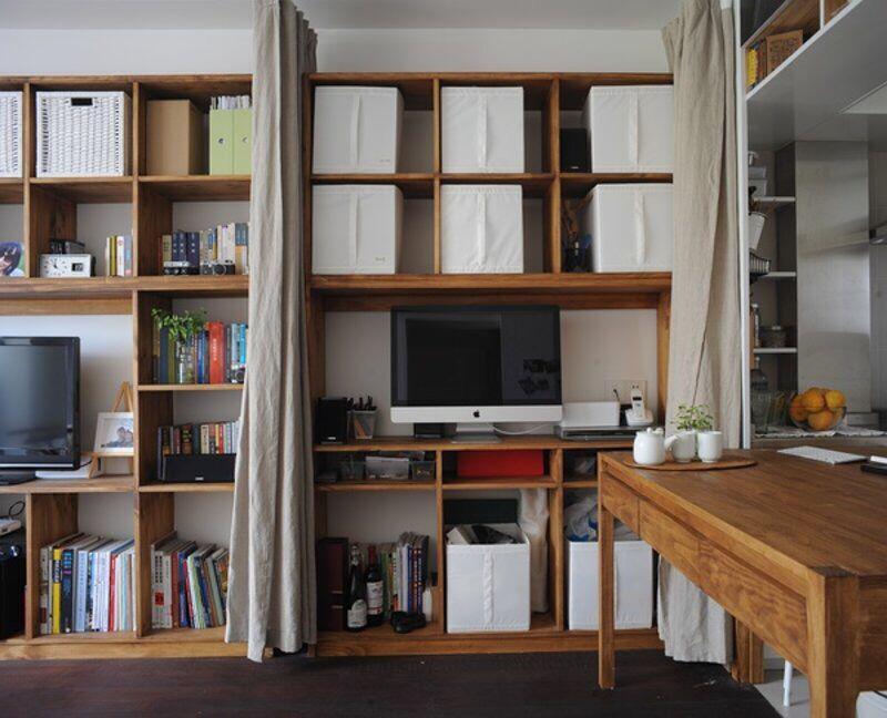 书房兼卧室装修打造出来不同效果