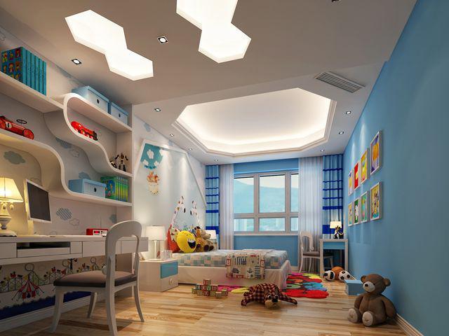 儿童房间榻榻米 设计装修图