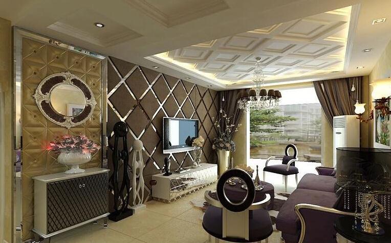 选择客厅简欧吊顶 置身于贵族生活