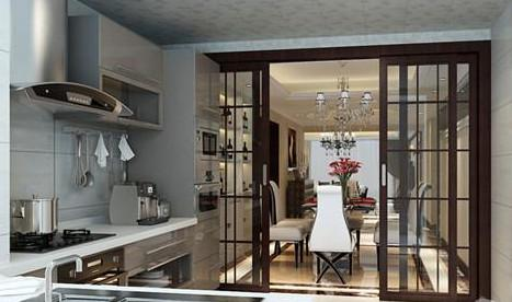 厨房推拉门推荐设计 完美隔断空间