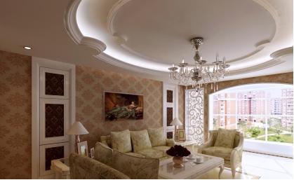 欧式客厅吊顶装修攻略及装修效果图赏析