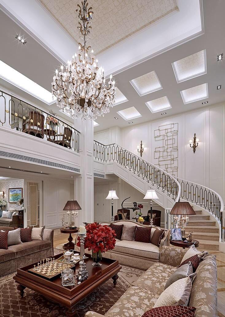别墅客厅装修出豪华的效果