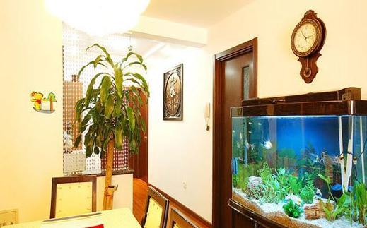 室内美观色彩 缤纷鱼缸玄关设计