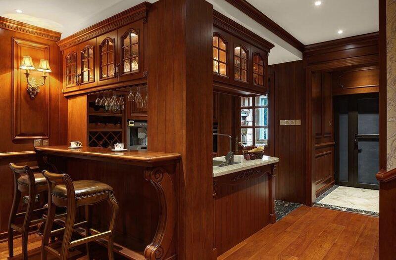 怎样在客厅里面装修漂亮吧台