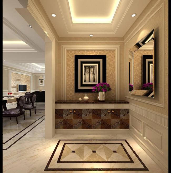 类型不同的玄关装饰柜设计装修图