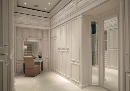 超豪华衣帽间的空间设计