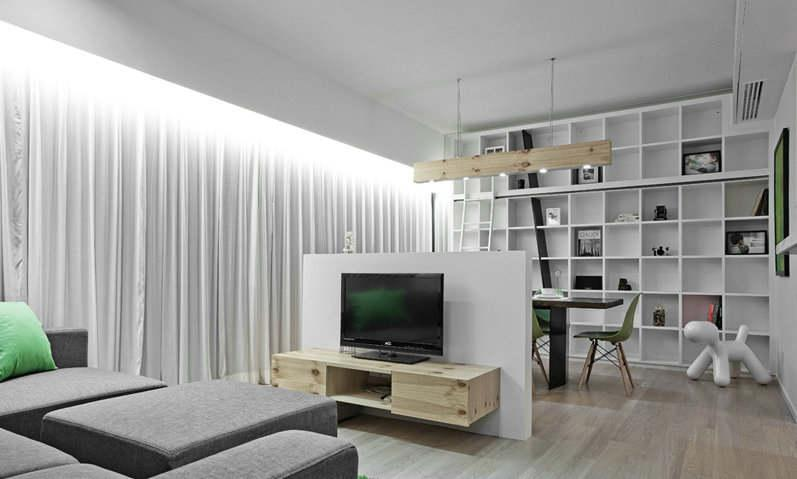 怎样在客厅中打造出来一个书房