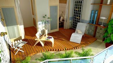 美观大方的阳台花园装修效果图