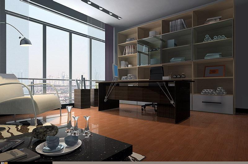 客厅兼书房