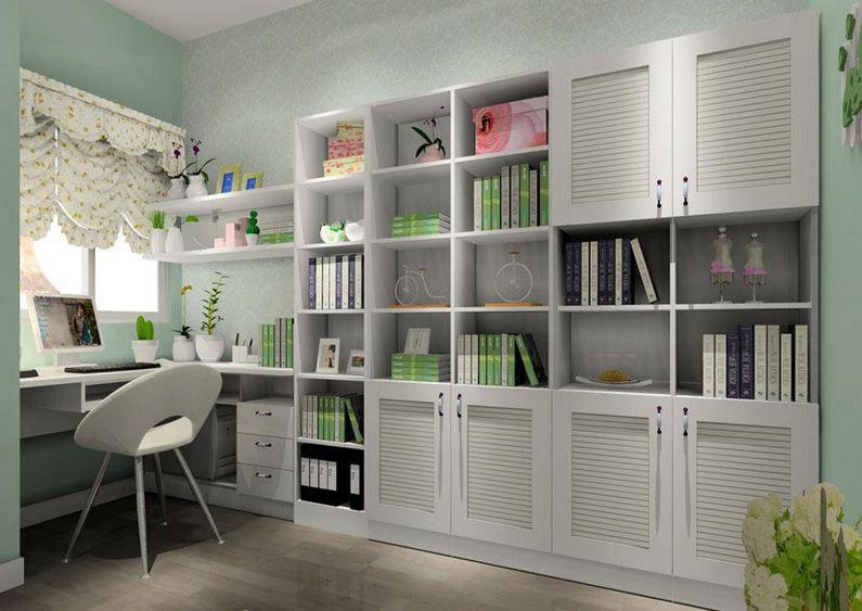 三种不同风格的书房设计装修