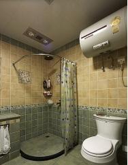 卫生间浴帘要考虑整体配色