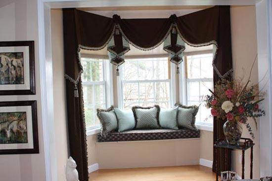 各种各样的阳台窗帘图片详解