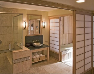 三大设计风格,卫生间隔断效果图
