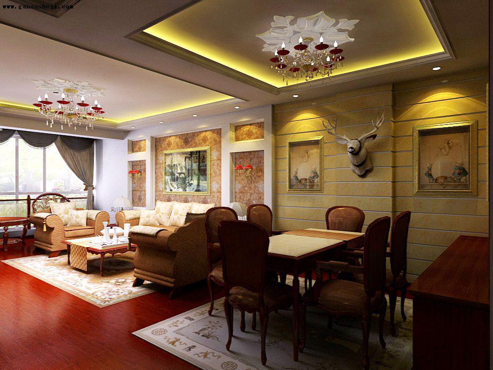 新颖的简欧式客餐厅装修风格图片