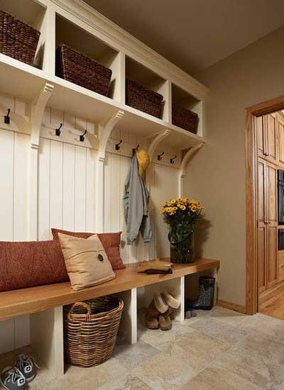 风格不同的客厅玄关隔断效果图
