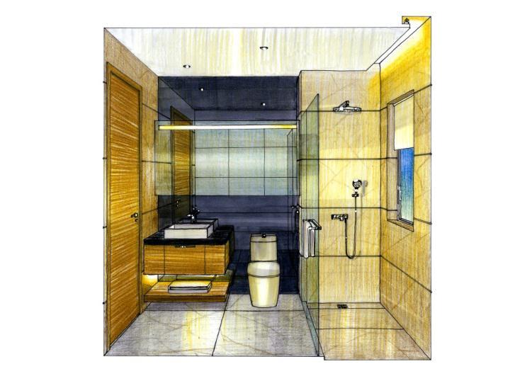 卫生间手绘设计图