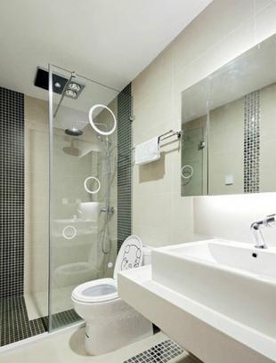巧分干湿区域 打造卫生间淋浴房效果图