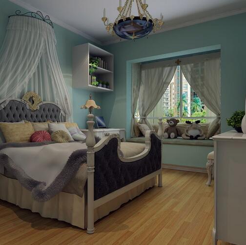 选择公主风窗帘装饰儿童房 散发浪漫气息