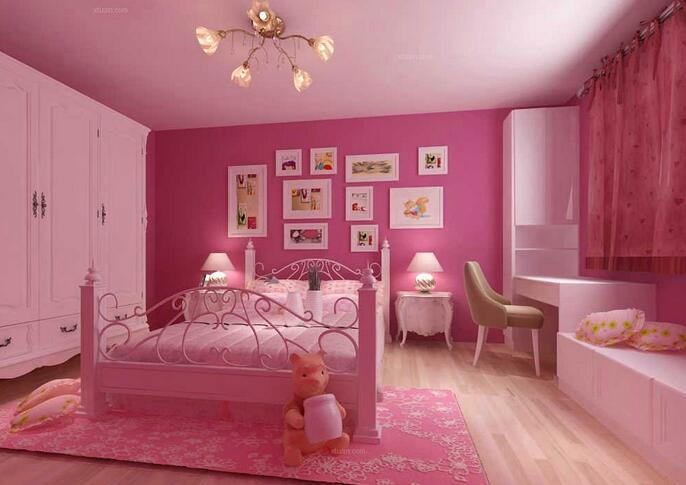 置身于粉红卧室 寻找过去的童真