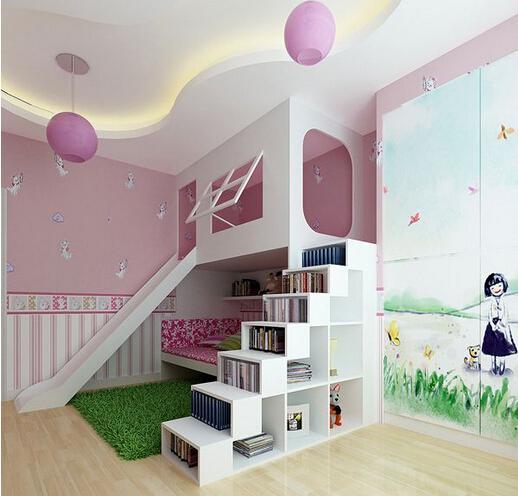 看儿童公主房装修效果图 为你的孩子圆梦